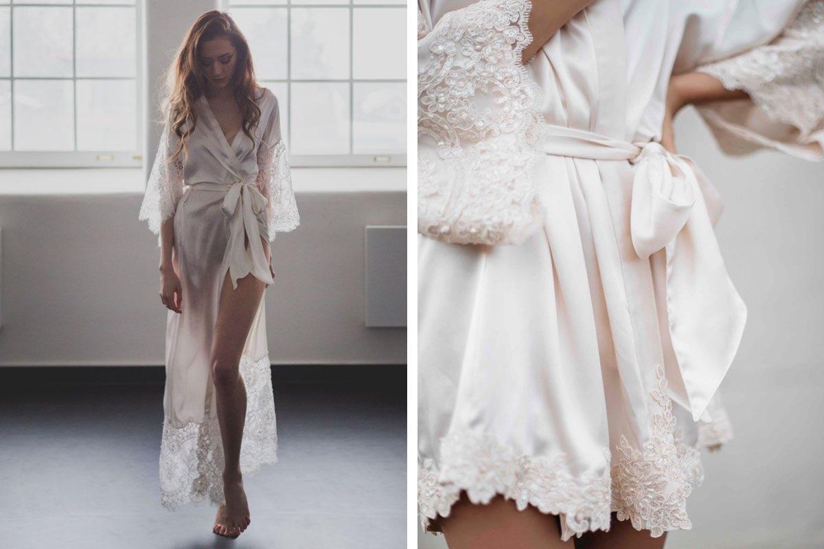 Daphne Newman bridal robes, White Dossier designer