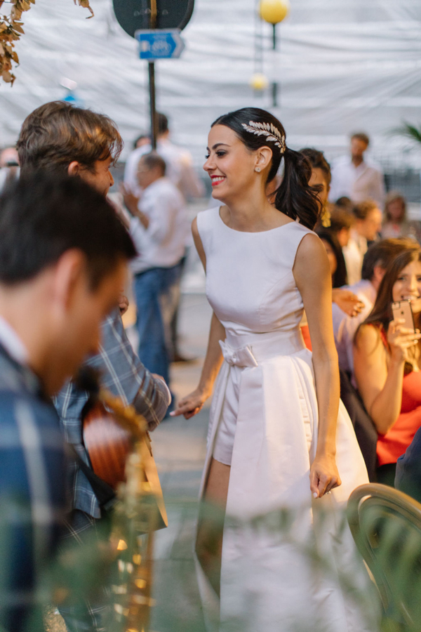 Bride Gabriella Nassif in Alexia Maria Jumpsuit by White Dossier
