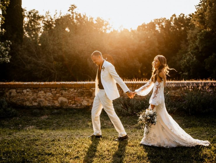 Bride Gemma Bonner in Rime Arodaky dress from The Mews London and Miu Miu shoes by White Dossier