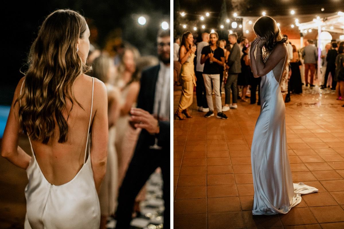 White Dossier Real Bride Gemma Boner in custom slip dress by Nikeen by White Dossier