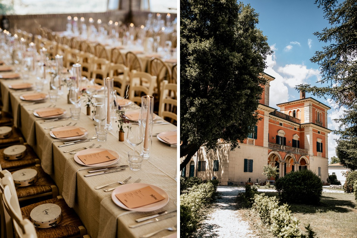 White Dossier Real Bride, Gemma Boner's wedding at Villa Lena in Tuscany, planned by Liz Linkleter Events
