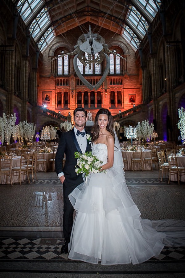 Bride Orly Huff in Bliss by Monique Lhuillier from The Wedding Club, South Kensington London by White Dossier