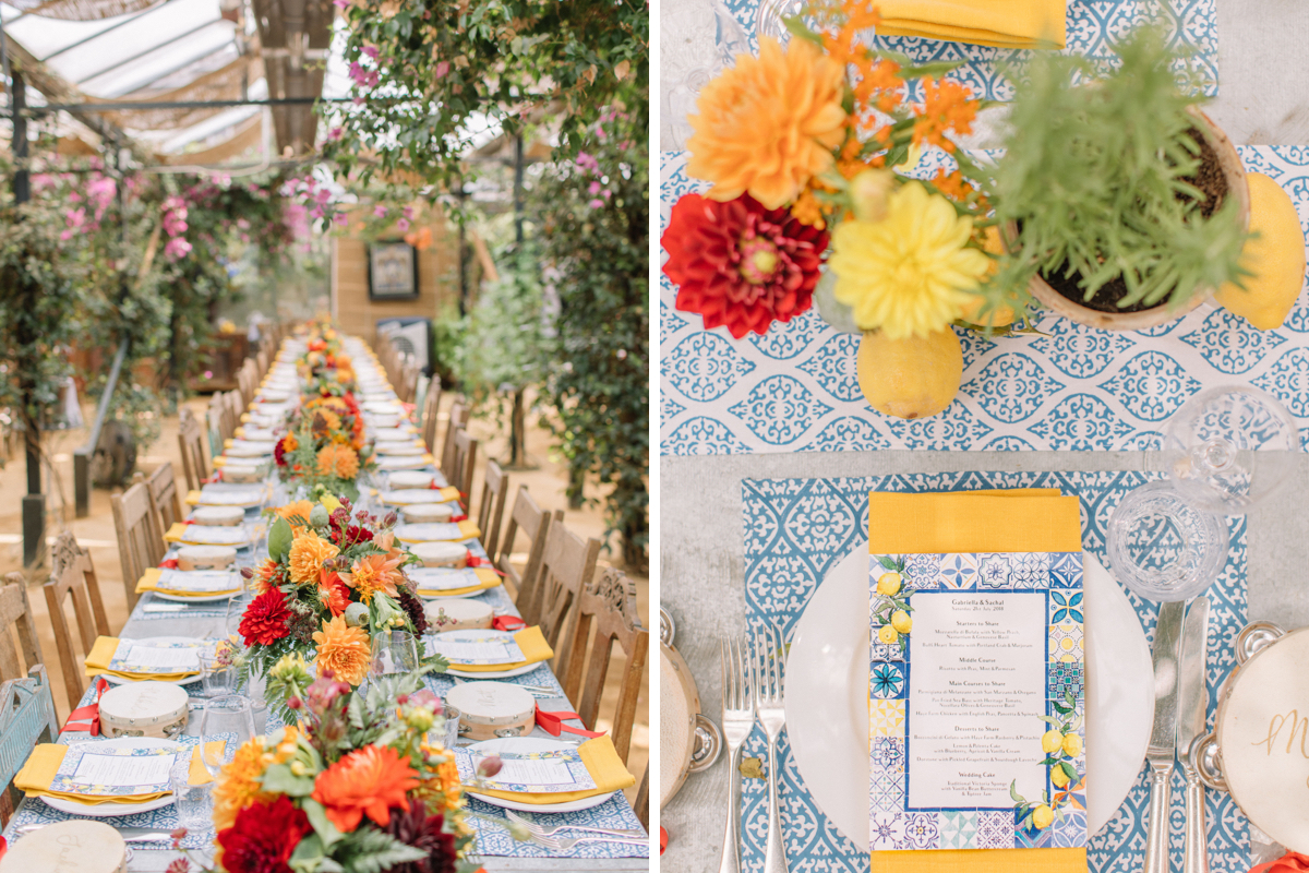 Bride Gabriella Nassif wedding at Petersham Nurseries in Richmond, planned by Liz Linkleter Events