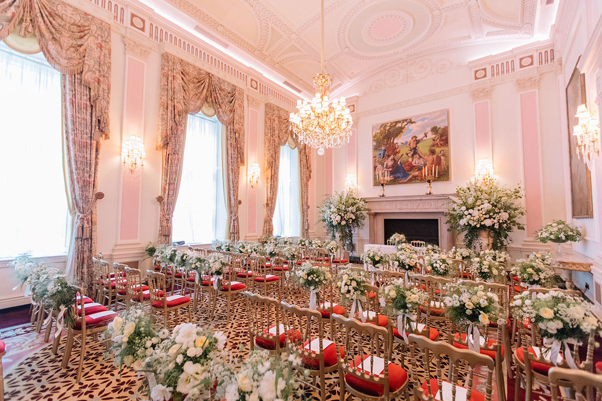 Gabriella Nassif wedding ceremony at The Ritz London, planned by Liz Linkleter