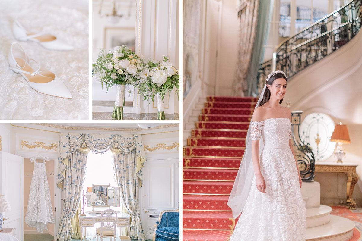 Bride Gabriella Nassif in custom Emma Victoria Payne at The Ritz Lodnon by White Dossier