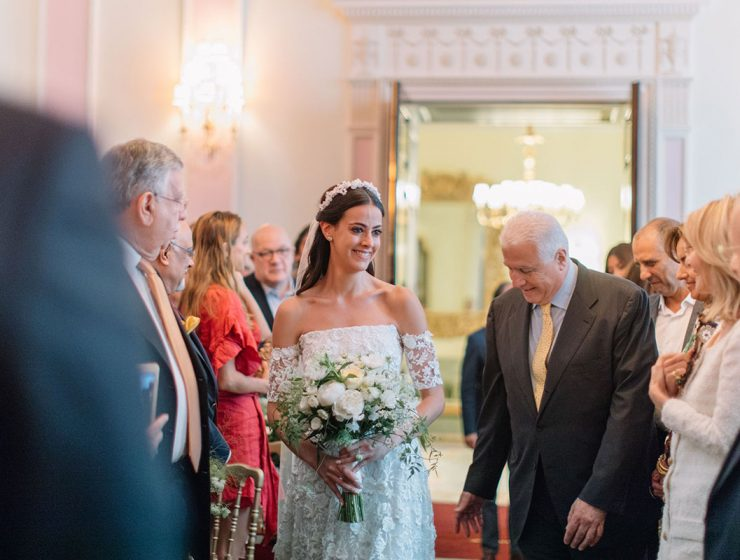 Bride Gabriella Nassif in custom Emma Victoria Payne at The Ritz London by White Dossier