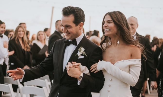Real Bride Samantha Klein in Danielle Frankel in The Hamptons New York by White Dossier