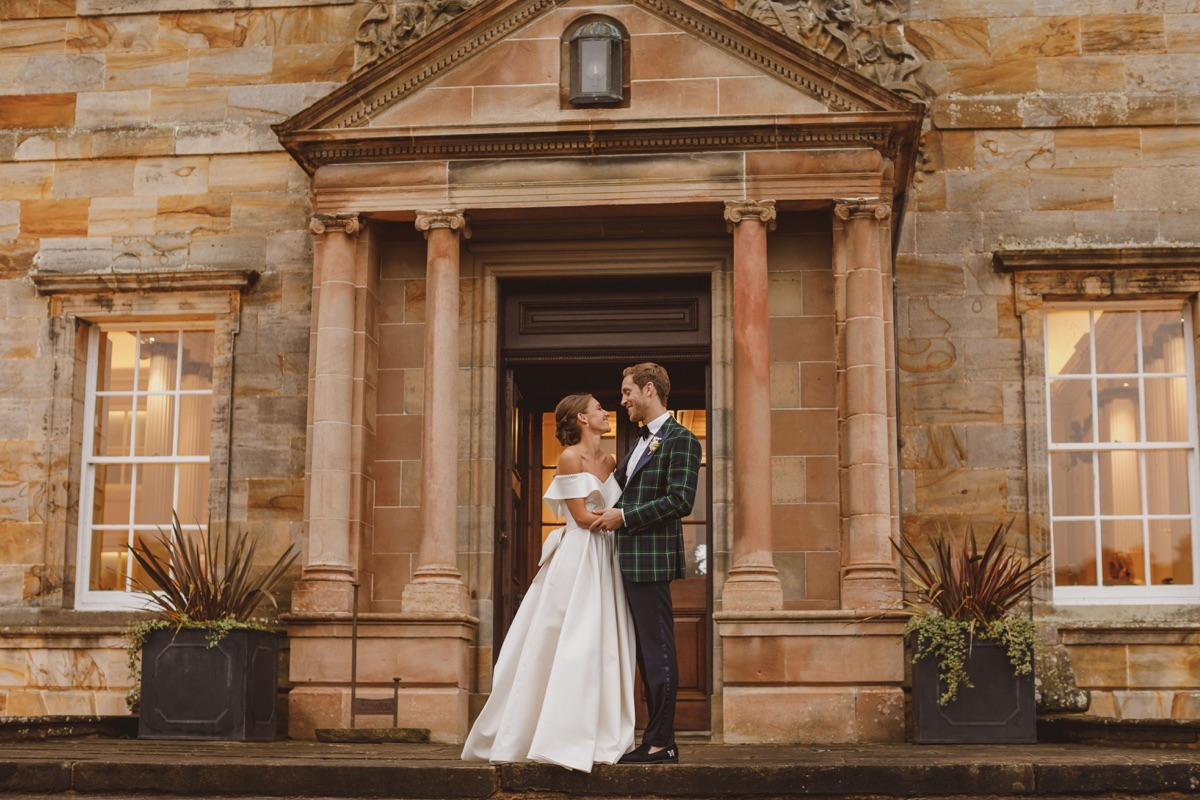Real Bride Isobel Gordon wears custom Lihi Hod in Scotland, by White Dossier