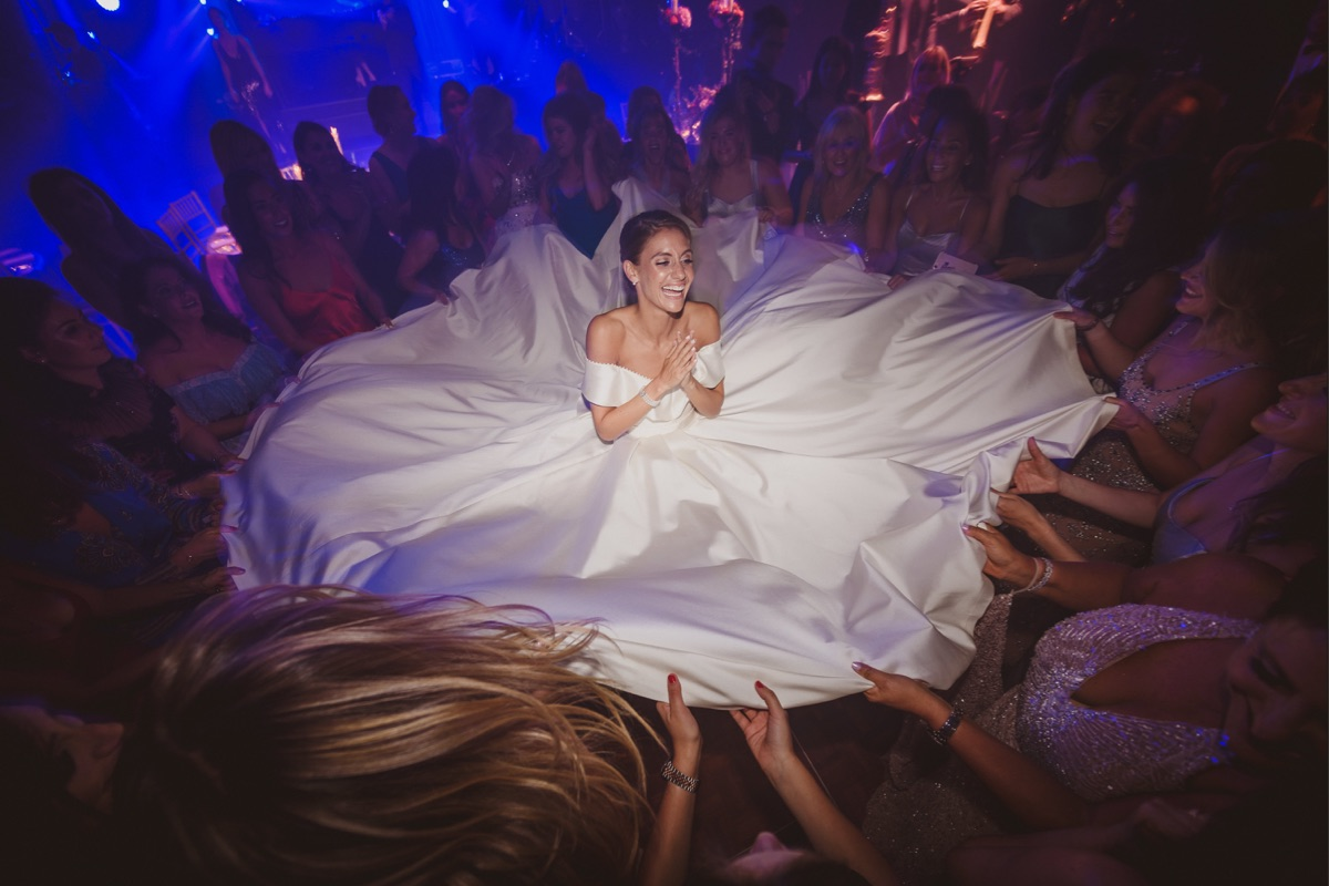 Real Bride Isobel Gordon wears custom Lihi Hod in Scotland, by White Dossier