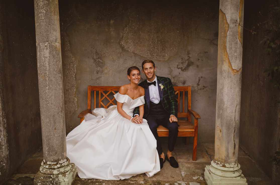 eal Bride Isobel Gordon wears custom Lihi Hod in Scotland, by White Dossier