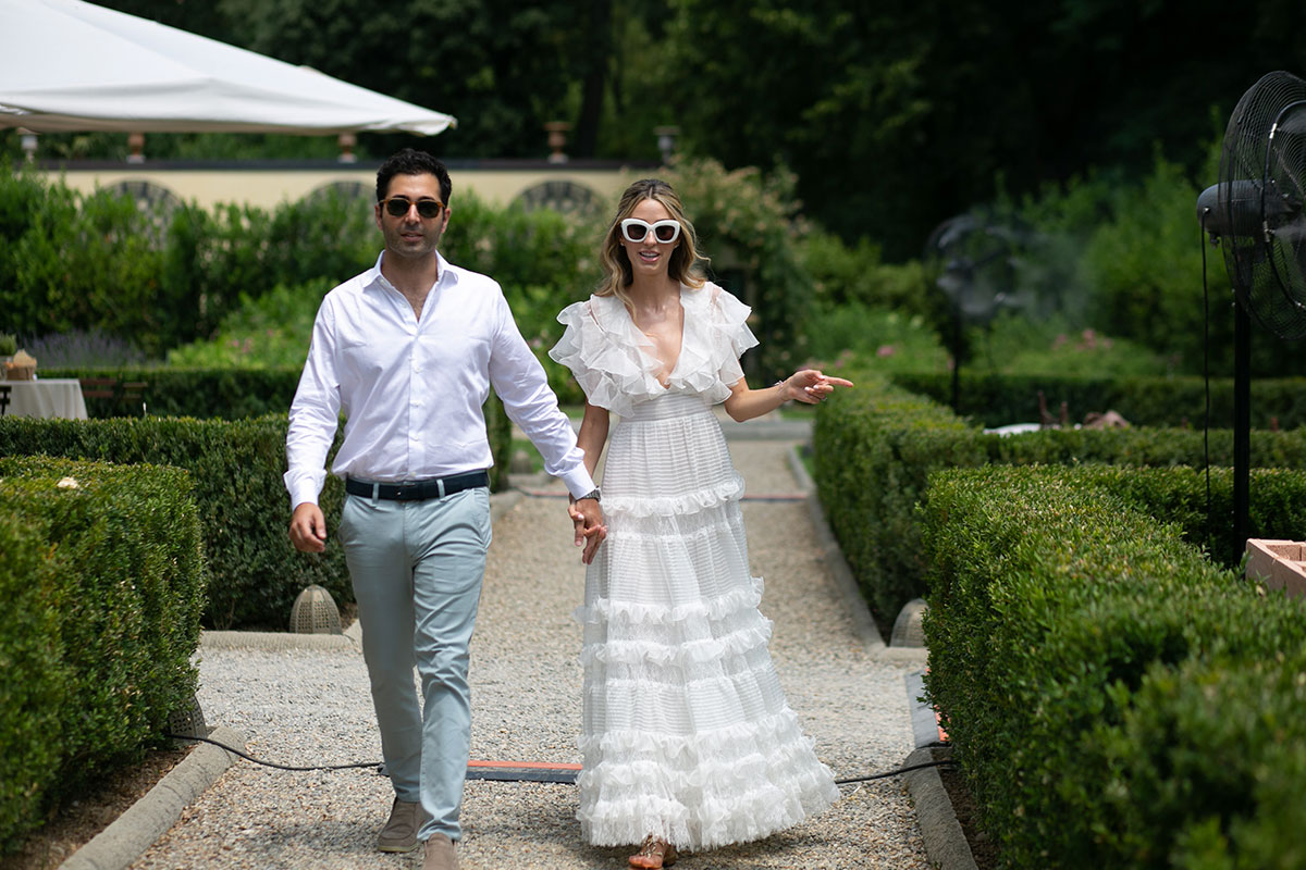 Real Bride Ariana Stein wears Giambatista Valli in Florence, by W