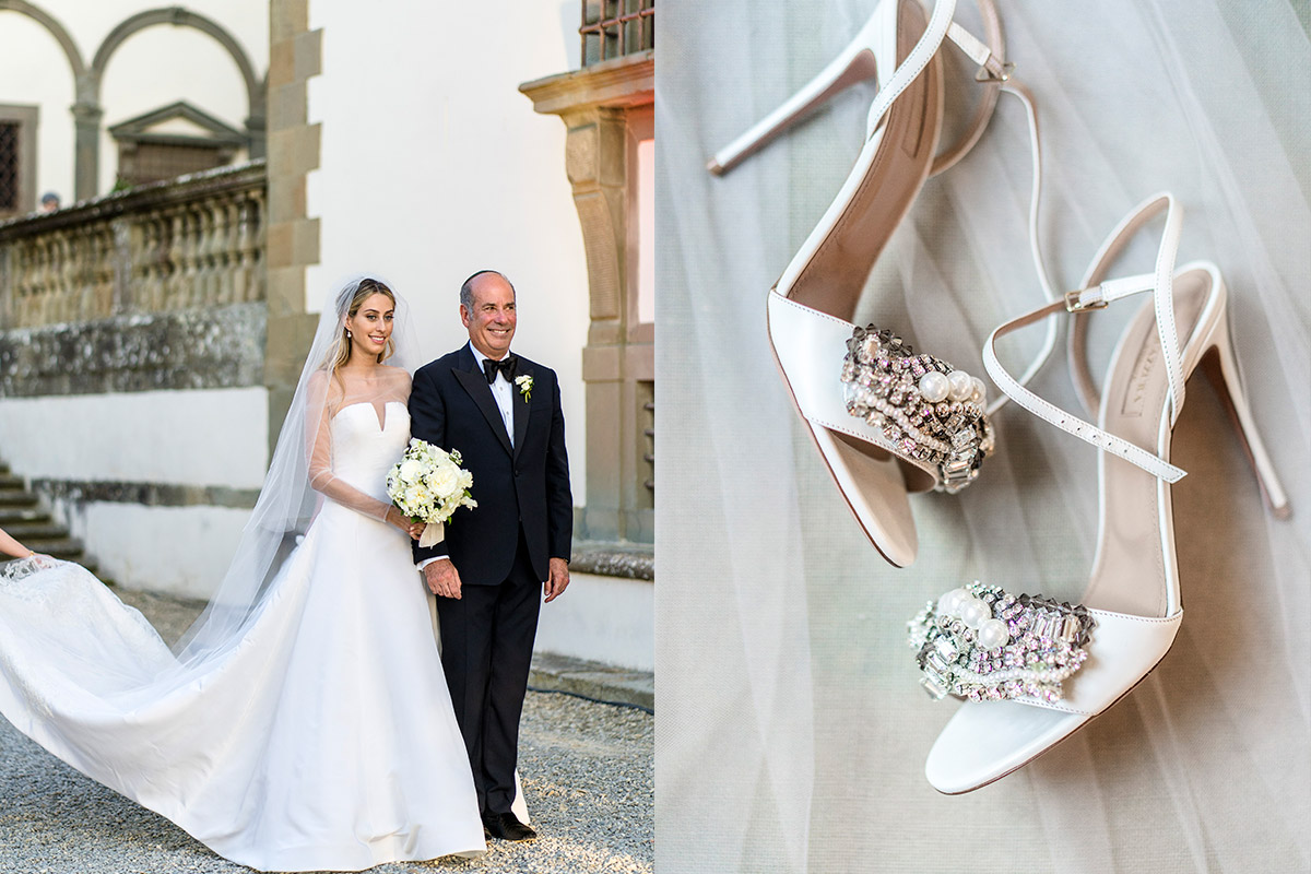 Real Bride Ariana Stein wears Vera Wang in Florence, by W